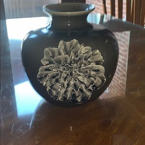 Ceramic vase with flower